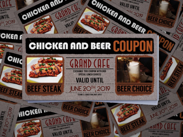 Beer Coupon Card Design Template