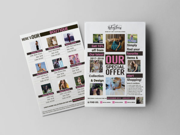 Captivating Clothes Sales Flyer Design Template