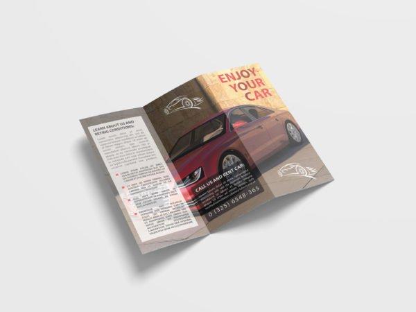 Car Tri Fold Brochure Design Template