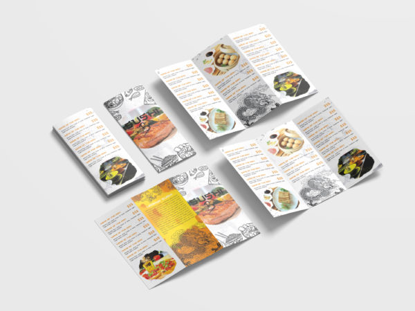 Chinese Restaurant Tri-Fold Brochure Design Template