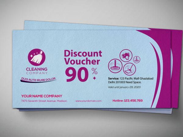 Service Gift Voucher Design Template