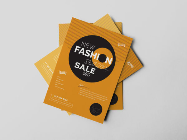 Clothing Store Flyer Design Template