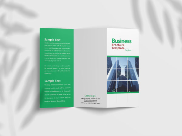 Corporate Business Tri Fold Brochure  Design Template