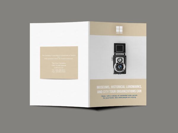 Creative Photographer Bi-Fold Brochure Design Template
