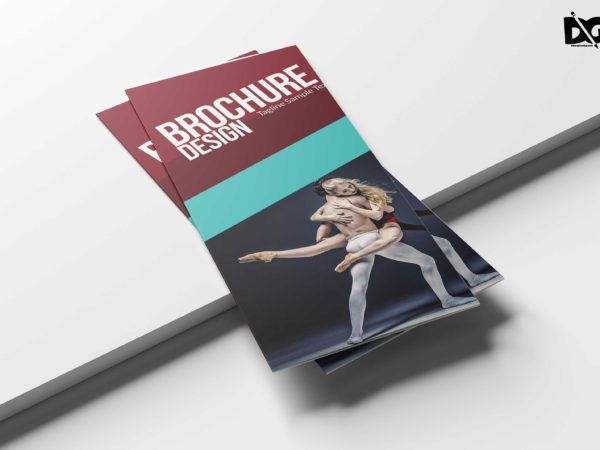 Dance School Tri-Fold Brochure Design Template