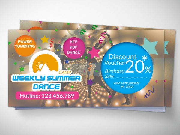 Dance Gift Voucher Design Template