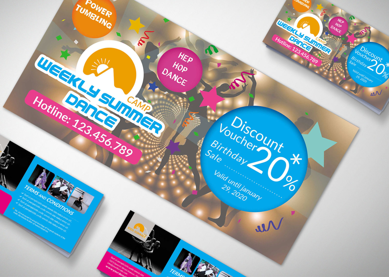 Studio Gift Voucher Design Template