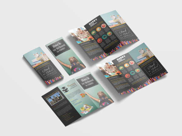 Elementary School Tri-Fold Brochure Design Template