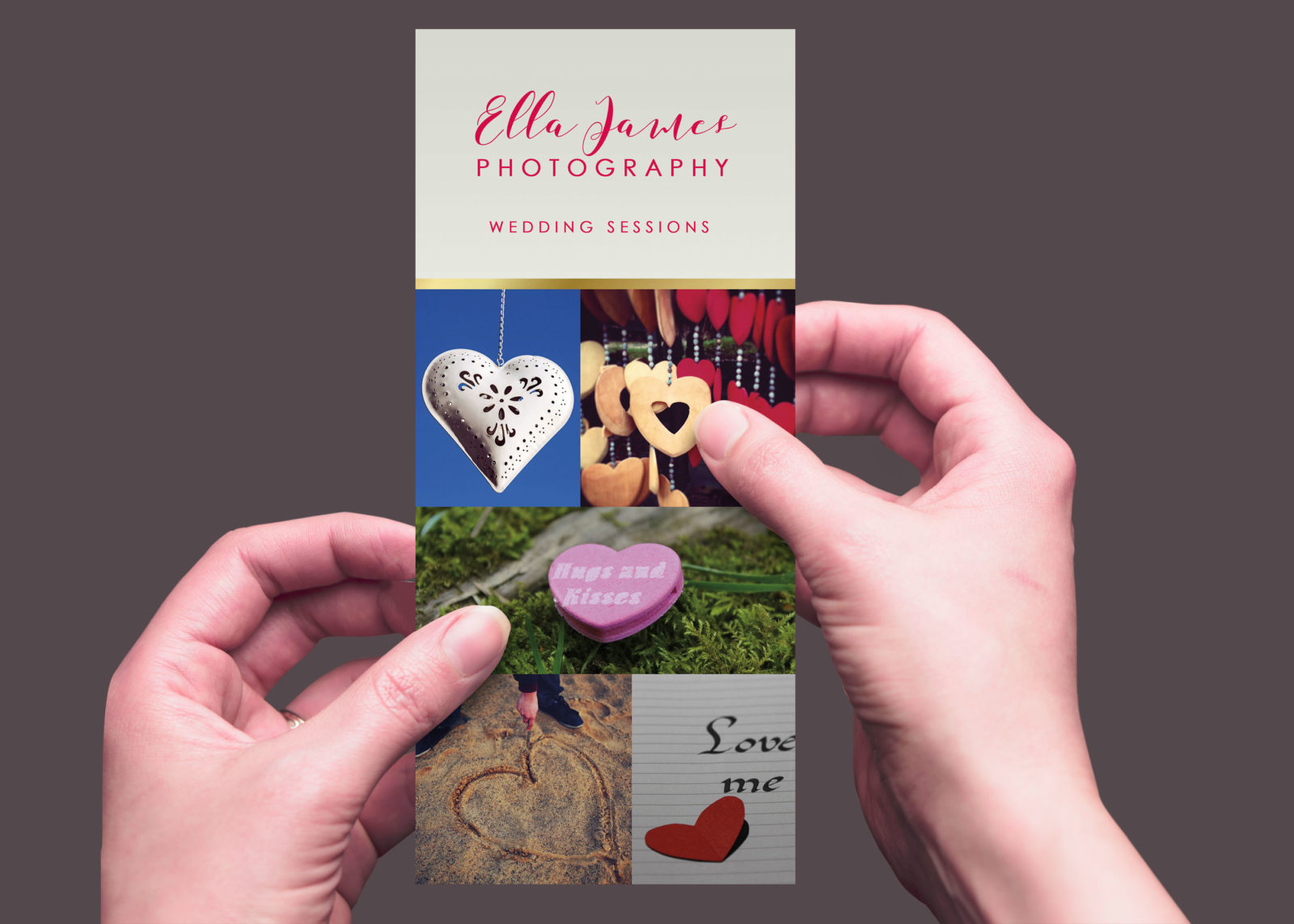 Event Photographers Rack Card Design Template