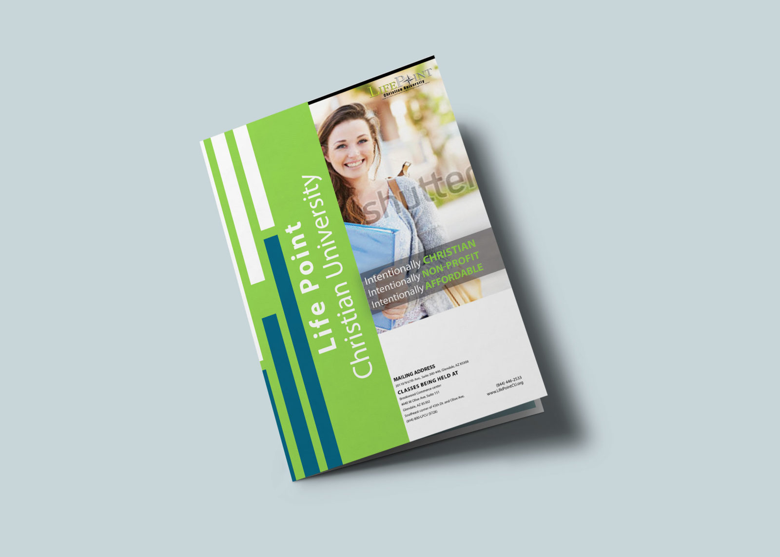 University Bi-Fold Brochure Design Template