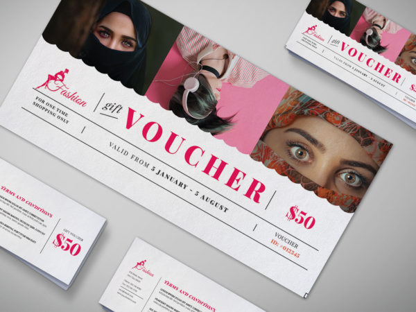 Fashion Garment Gift Voucher Design Template