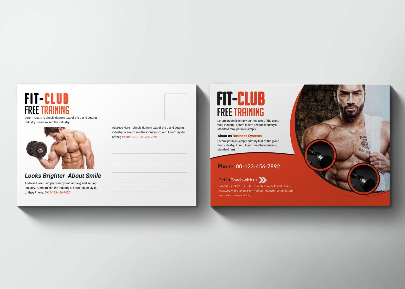 Fitness Postcard Design Template