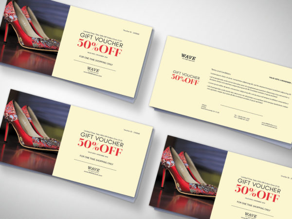 Foot Wear Gift Voucher Design
