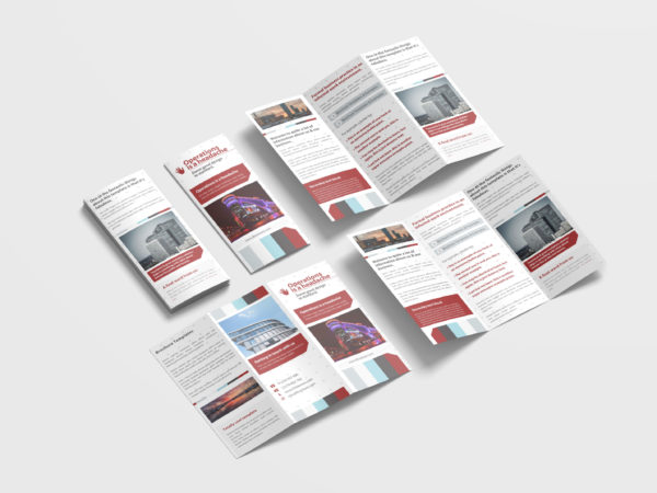 Formal Corporate Tri-Fold Brochure Design Template