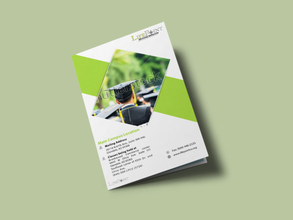 Graduation Bi-Fold Brochure Design Template