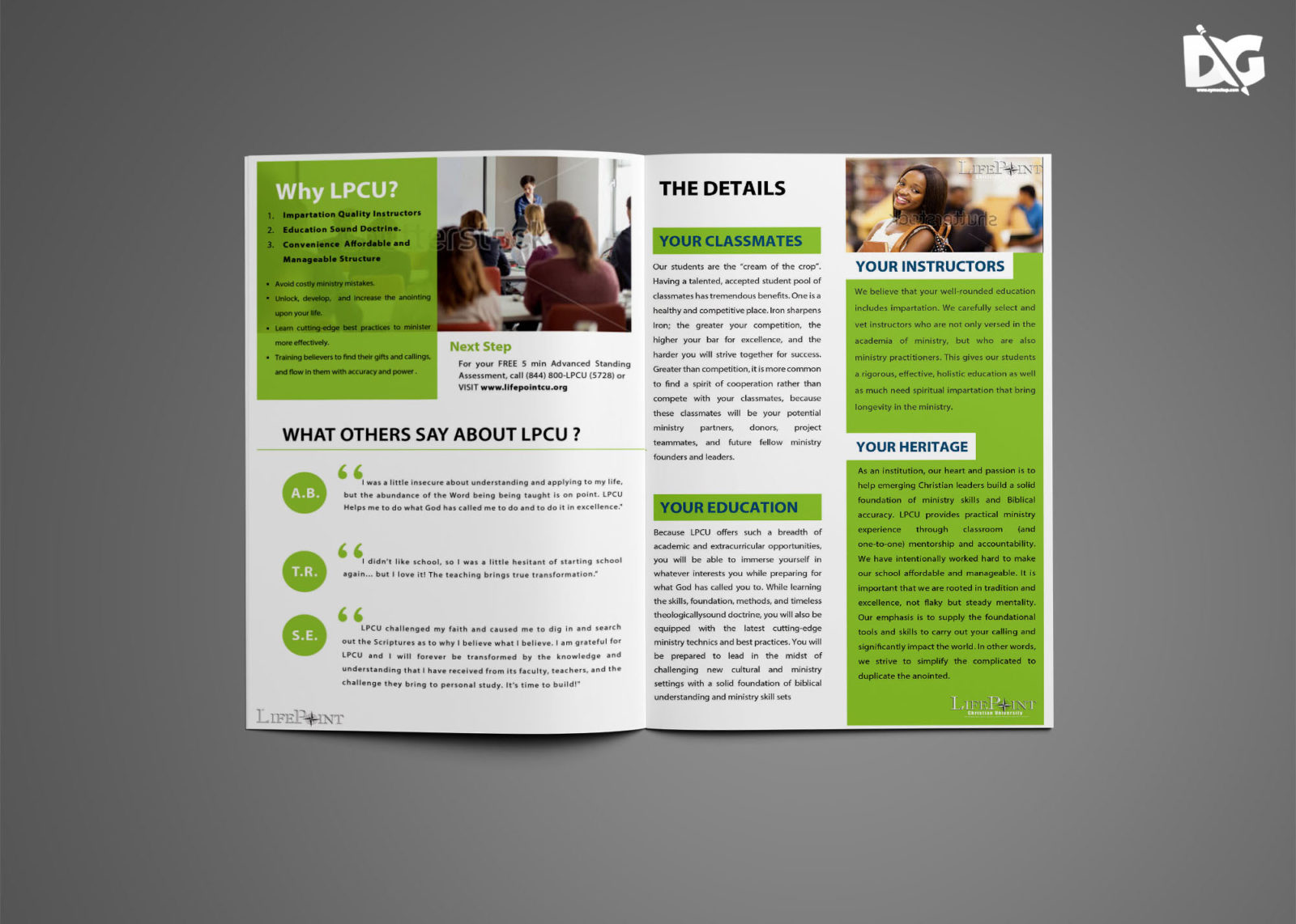 Graduation Bi-Fold Brochure Design
