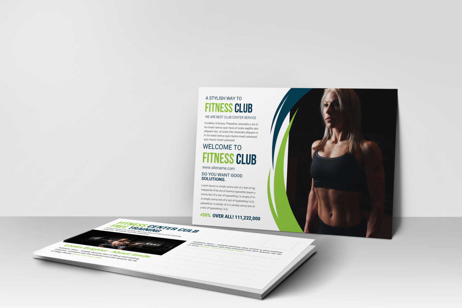 Health Club Postcard Design Template