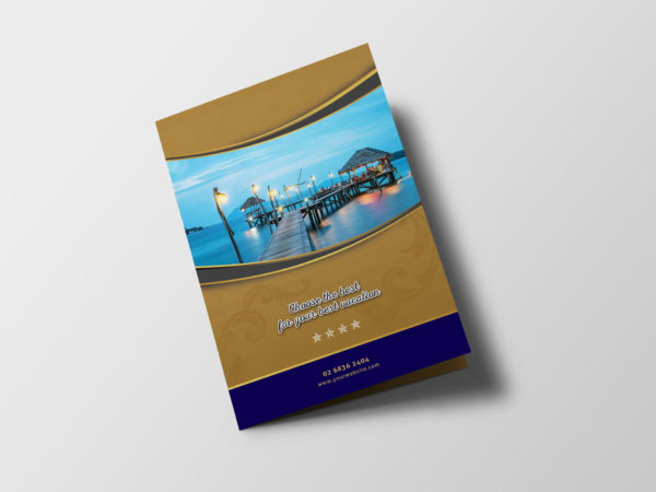 Hotel Resort Bi-Fold Brochure Design Template