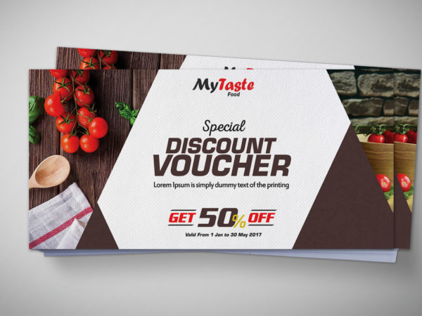 Japanese Food Gift Voucher Design Template