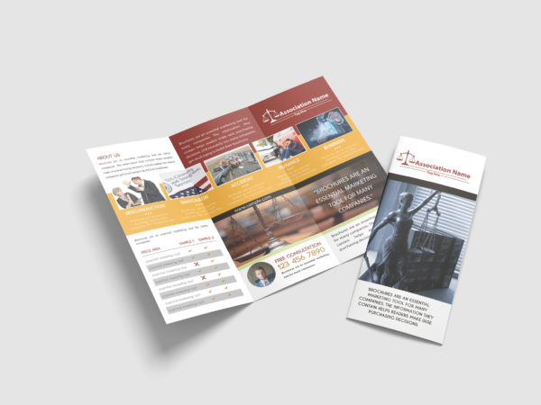 Law Tri-Fold Brochure Design Template
