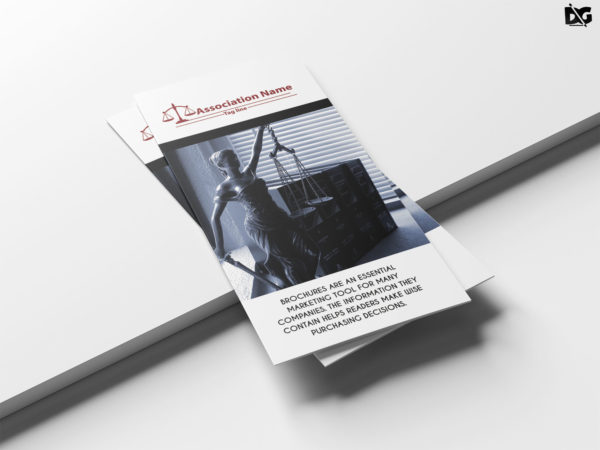 Law Firm Tri-Fold Brochure Design Template