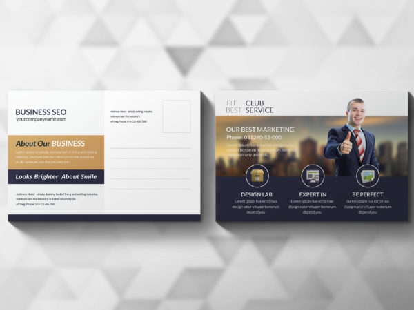 Marketing Consultant Postcard Design Template