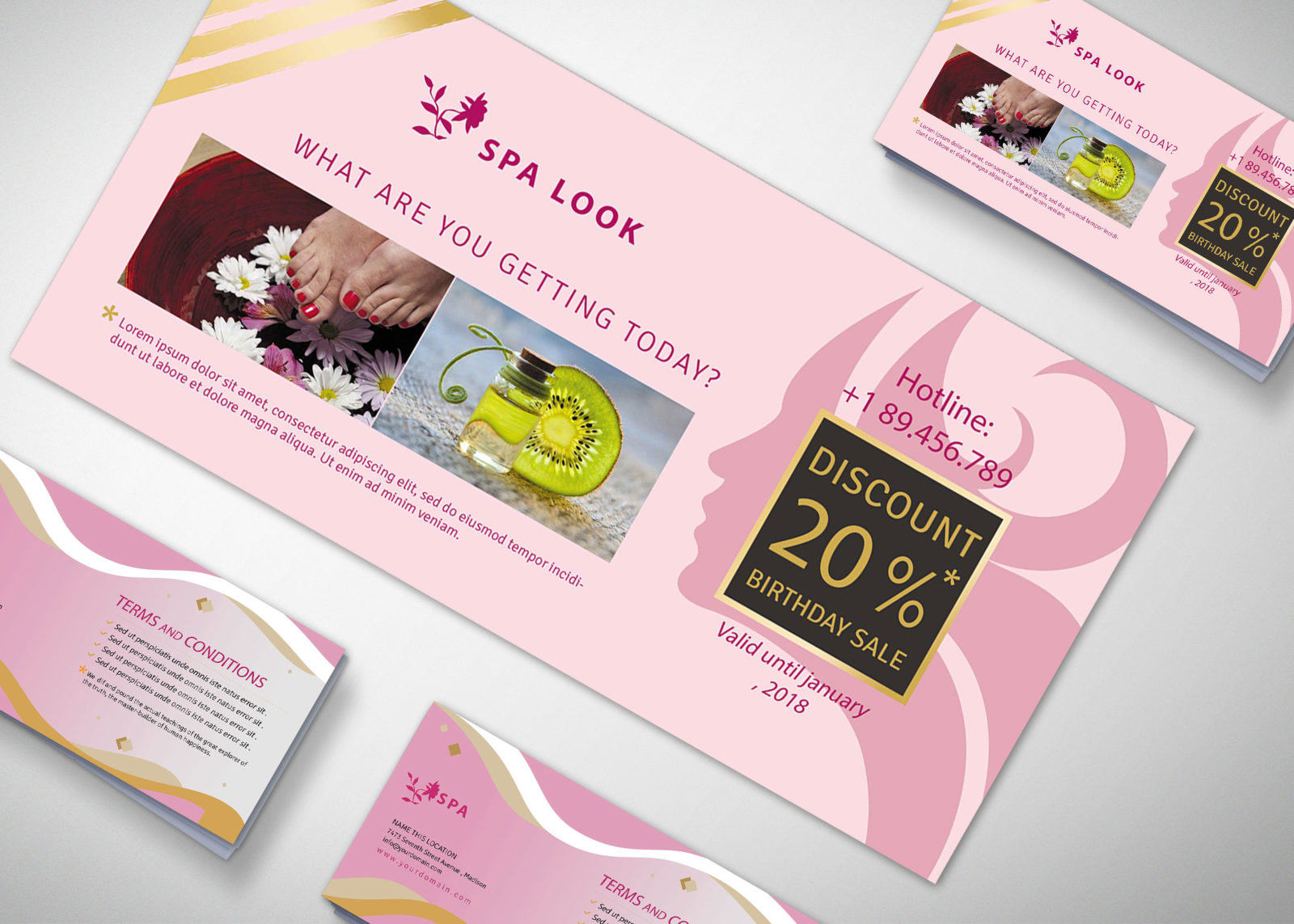 Therapy Gift Voucher Design Template