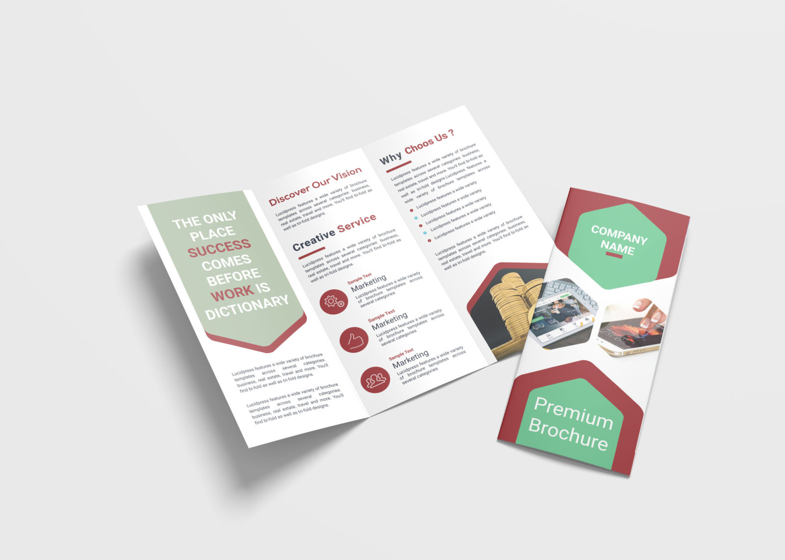 Media Business Tri-Fold Brochure Design Template