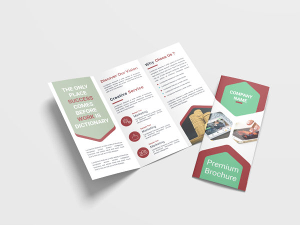 Media Marketing Business Tri-Fold Brochure Design Template