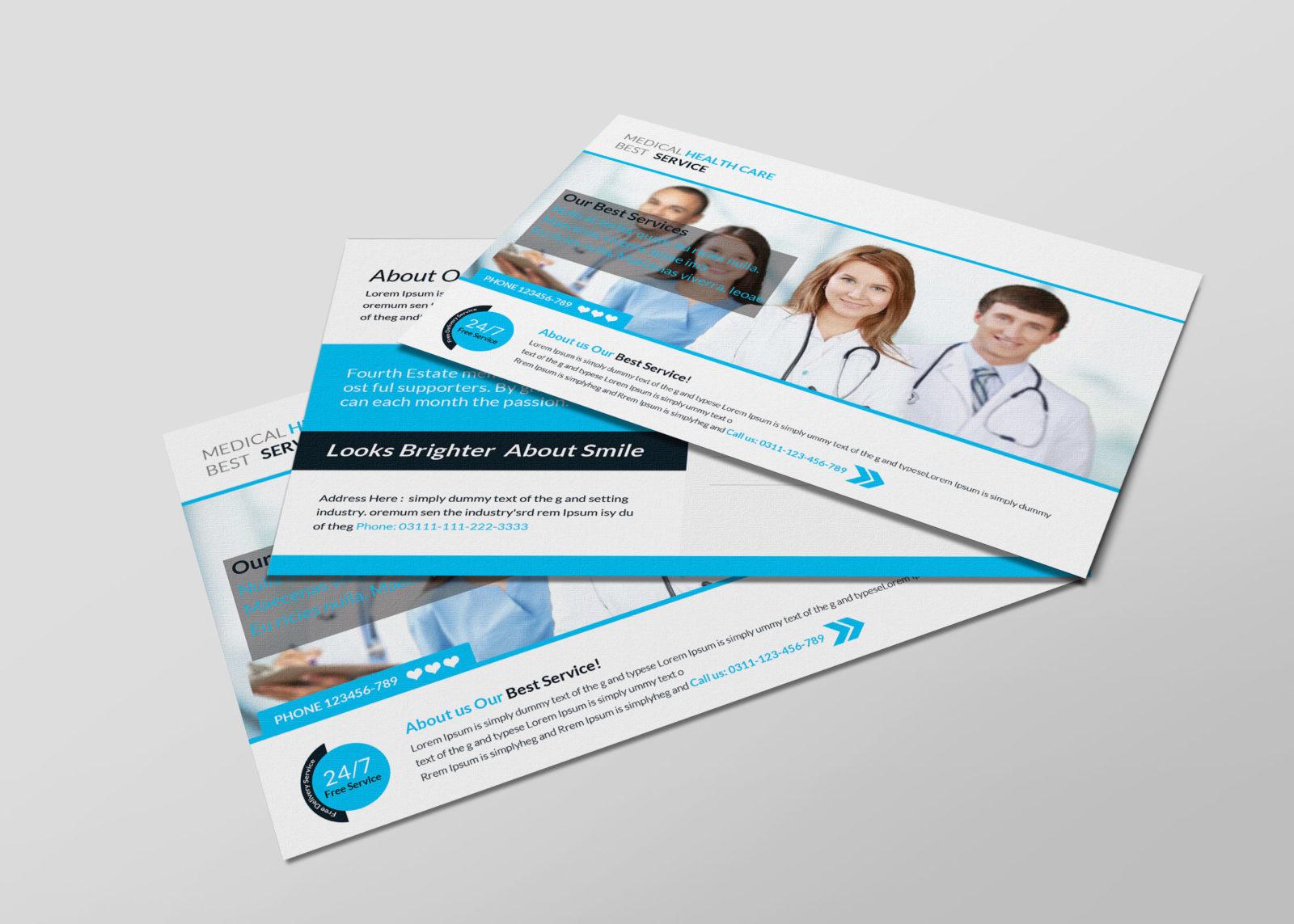 Medical Postcard Design Template