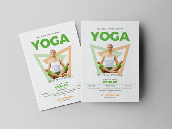 Meditation Class Flyer Design Template