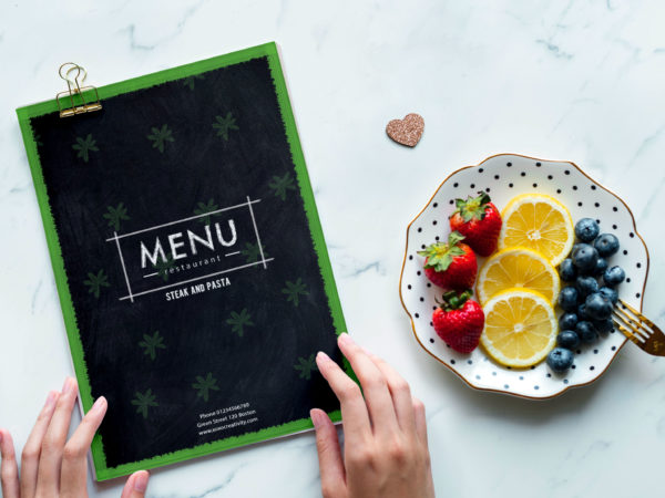 Mexican Menu Bi-fold Brochure Design Template