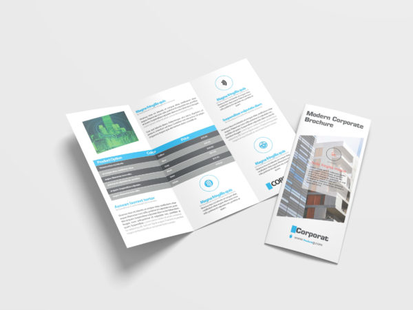 Modern Business Tri Fold Brochure Design Template