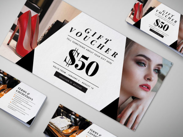 Modern Showroom Gift Voucher Design Template