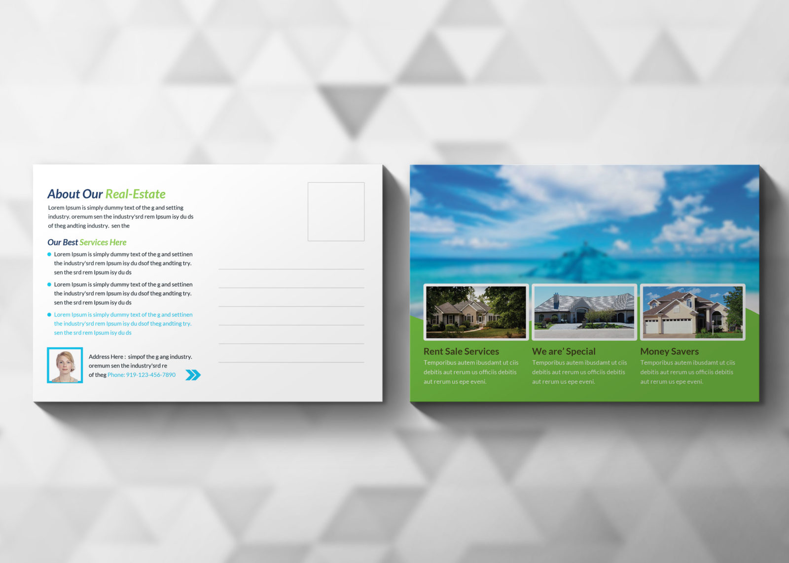 Real Estate Postcard Design Template