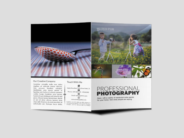 Photographer Agency Bi-Fold Brochure Design Template