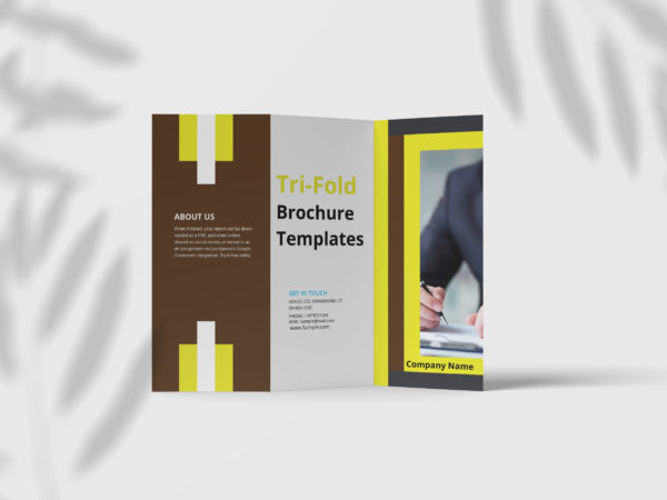 Premium Business Tri Fold Brochure Design Template