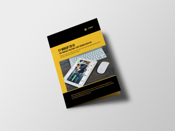 Corporate Bi-Fold Brochure Design Template