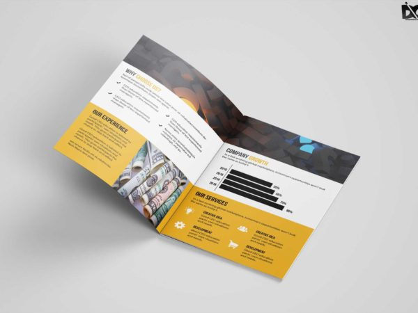 Premium Corporate Bi-Fold Brochure Design Template