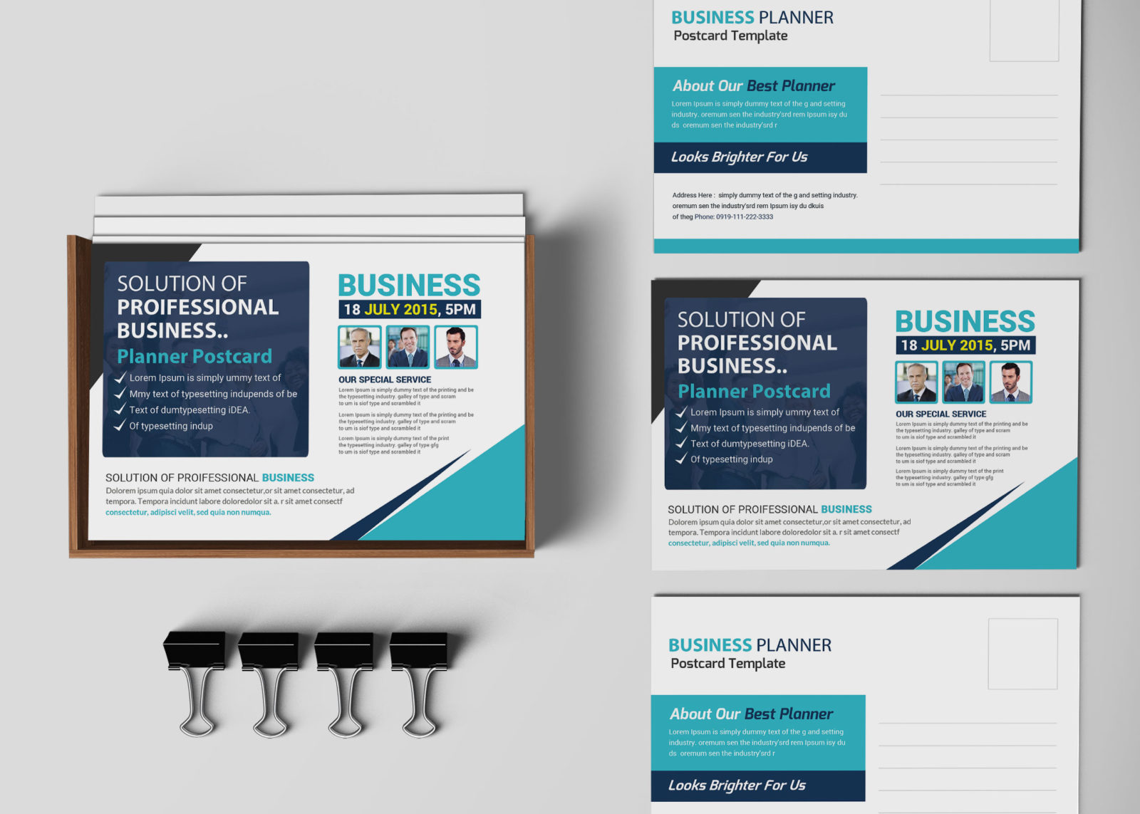 Professional Business Postcard Design Template