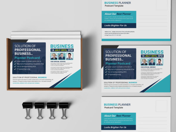 Professional Business Postcard PSD Design Template