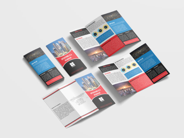 Professional Business Tri Fold Brochure Design Template