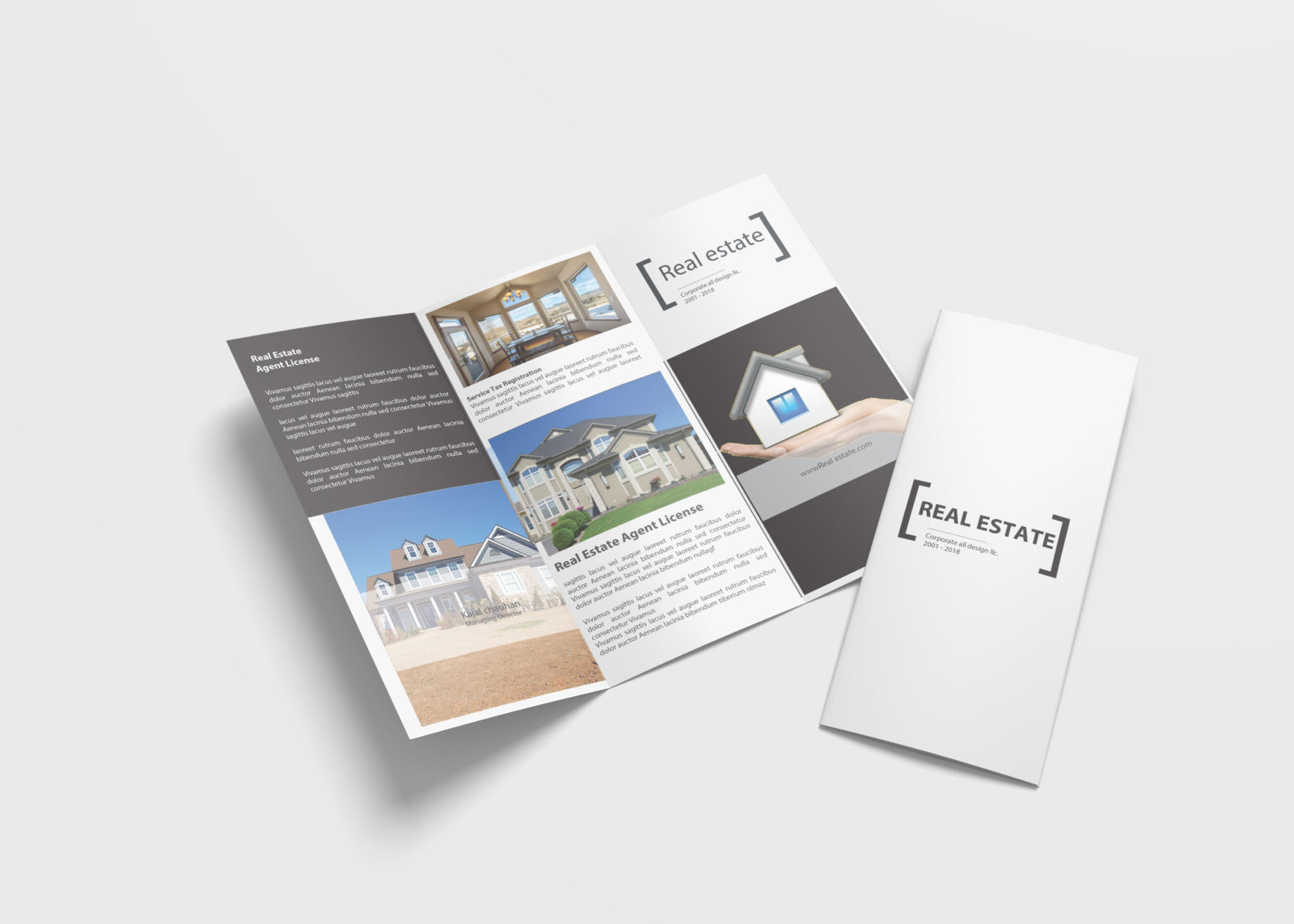 Estate Business Tri Fold Brochure Design Template