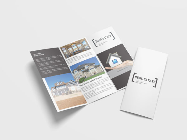 Real Estate Business Tri Fold Brochure Design Template