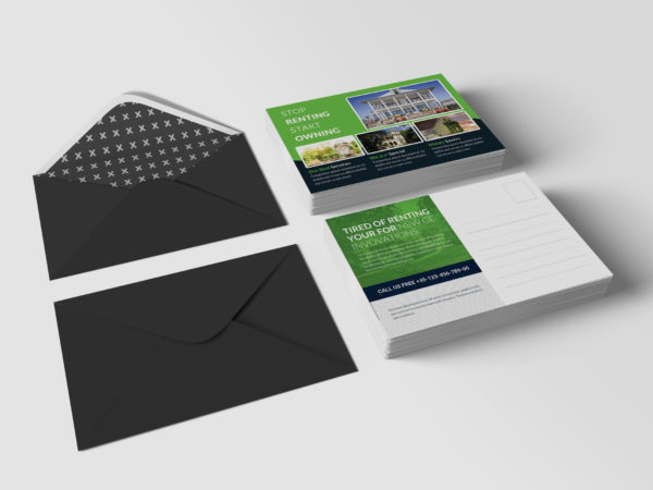 Real Estate Postcard PSD Design Template