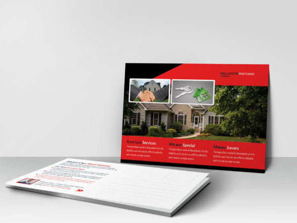 Realtor Business Postcard Design Template
