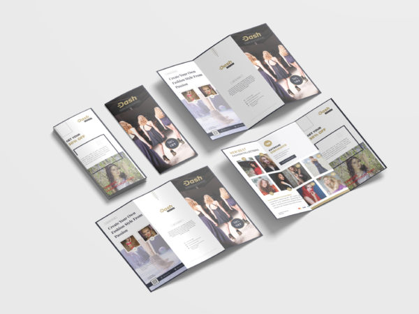 Retro Fashion Brochure Tri-Fold Design Template