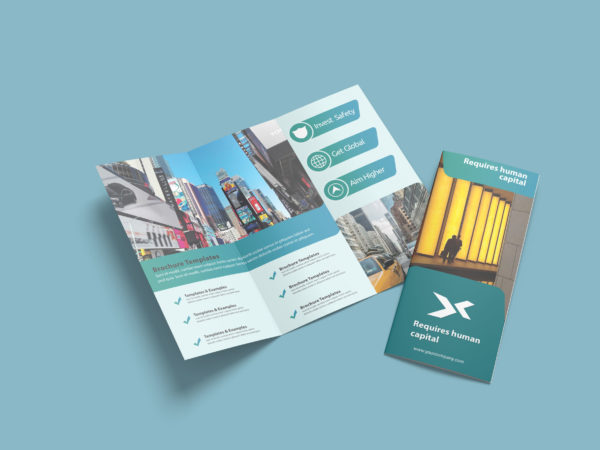 Seo Agency Business Tri-Fold Brochure Design Template