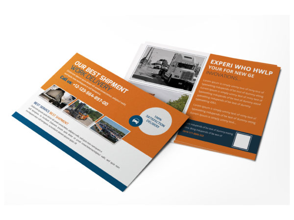 Shipment Business Postcard Design Template