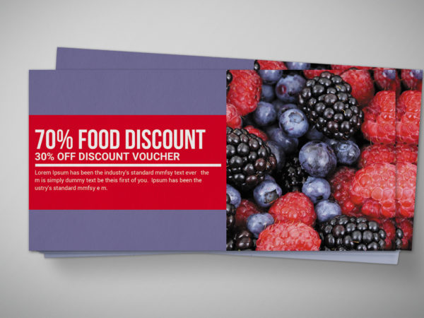 Smoothie Discount Gift Voucher Design Template
